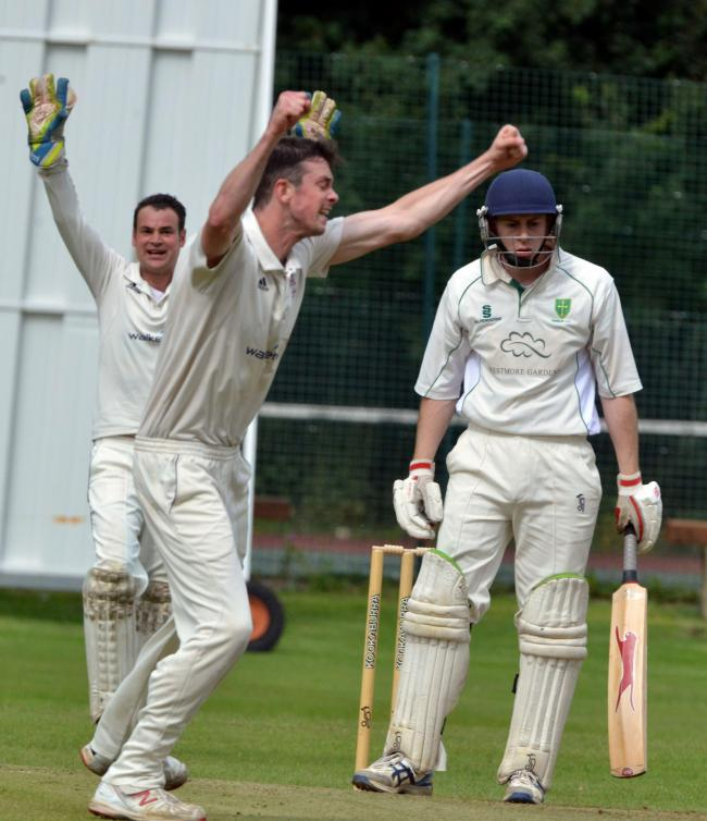 Harrison Durkin's unbeaten half-century helped Guiseley over the line with one ball to spare against Bilton