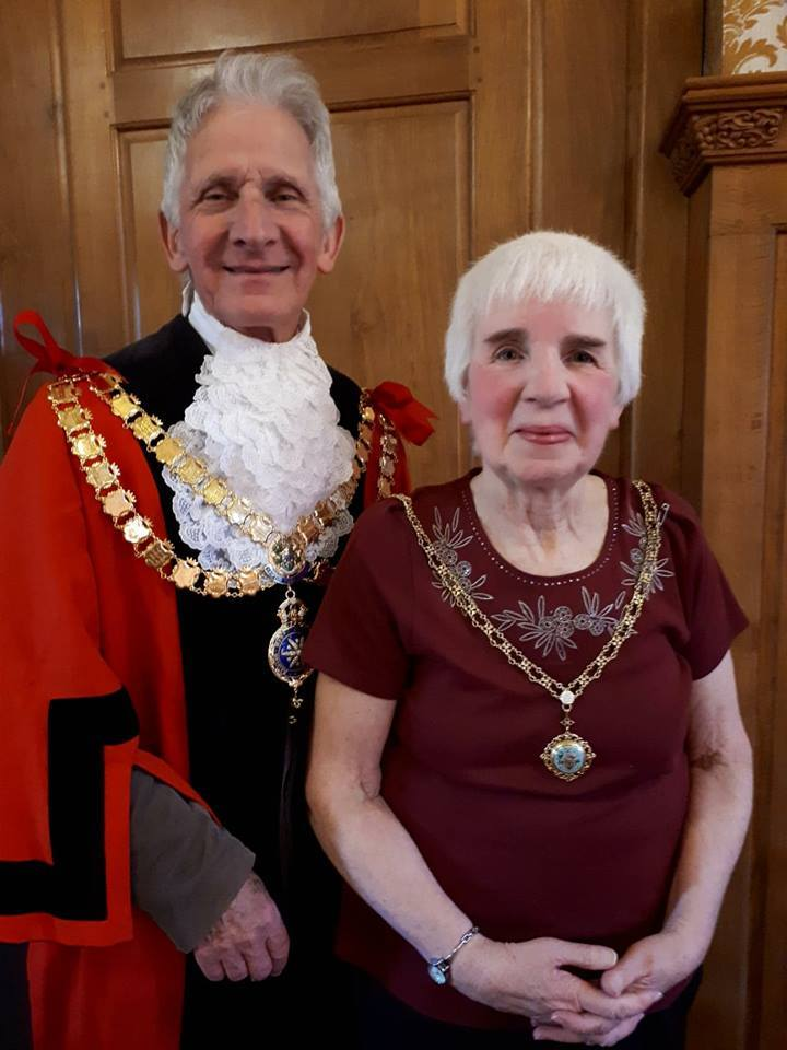 Mayor Alan Hickman and consort Marie Hickman, picture by Judy Probst