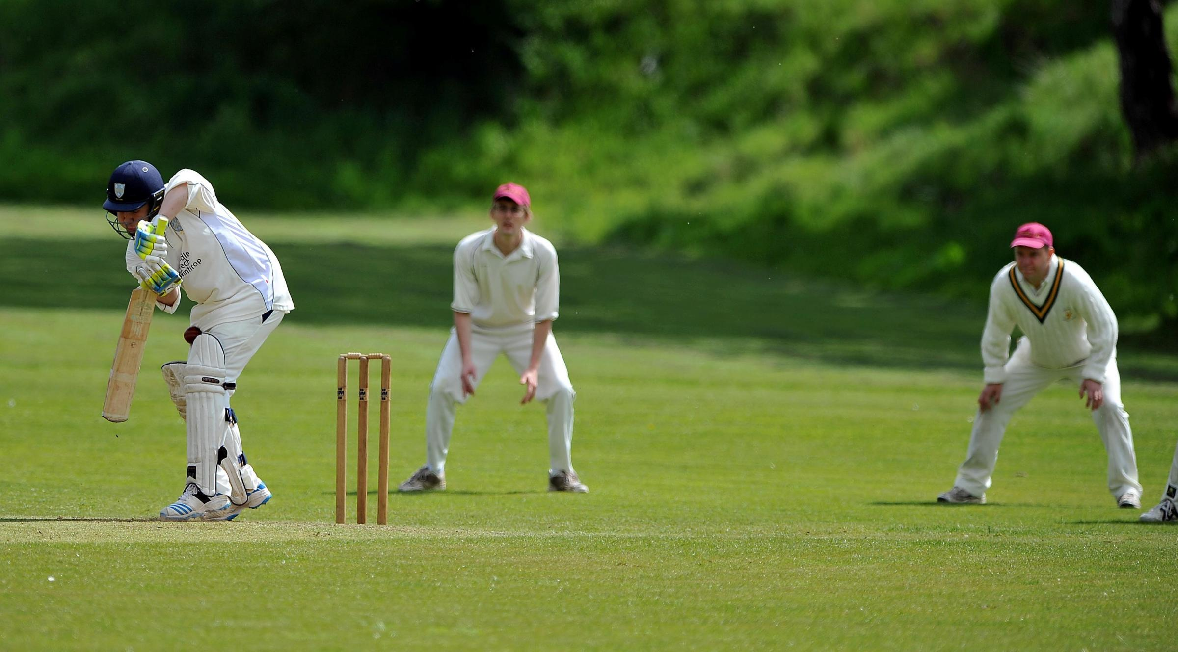 Craven League ..Skipton (batting) V Connonley..Batting for Skipton is Ian Henderson.