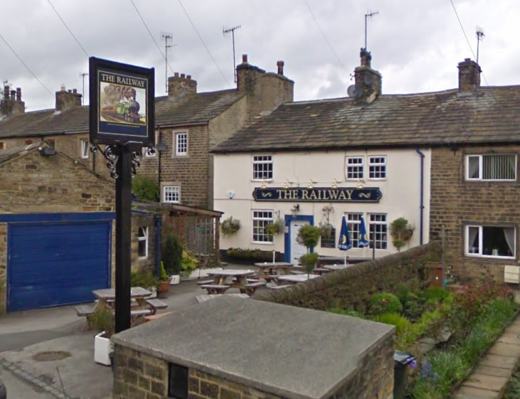 LIE: The Railway Inn in Cononley near Skipton, where Ryan Anderton lied about a robbery taking place. Photo: Google Maps
