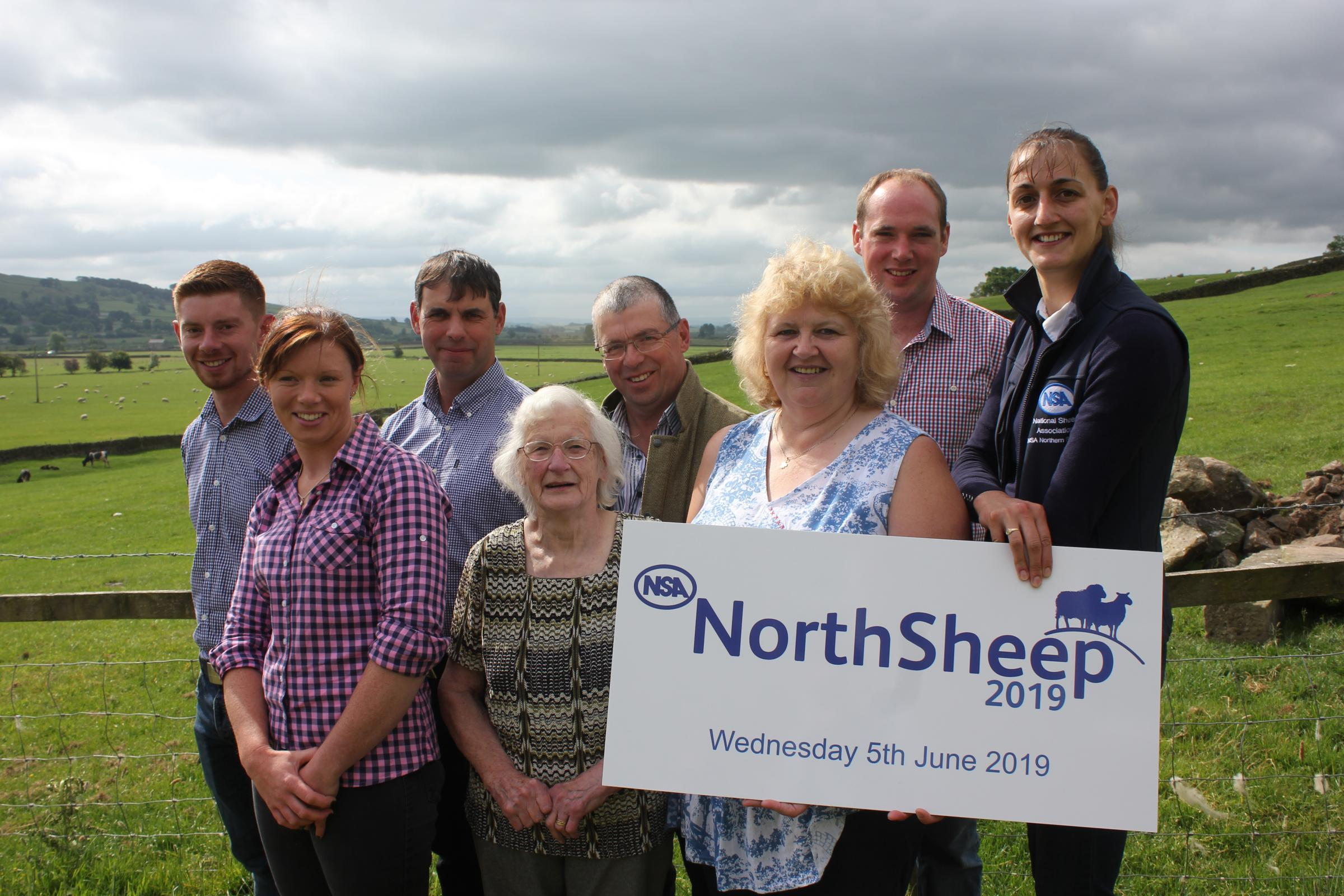 The Frankland family, who are looking forward to hosting the National Sheep Association event at their New Hall Farm, Rathmell, to be held in June next year