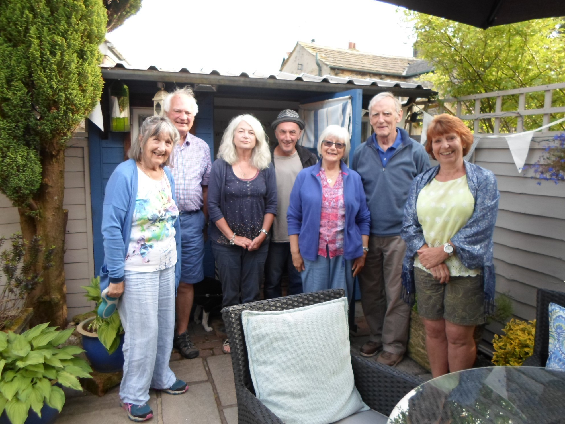 Some of the Langcliffe villagers who opened up their gardens to the public