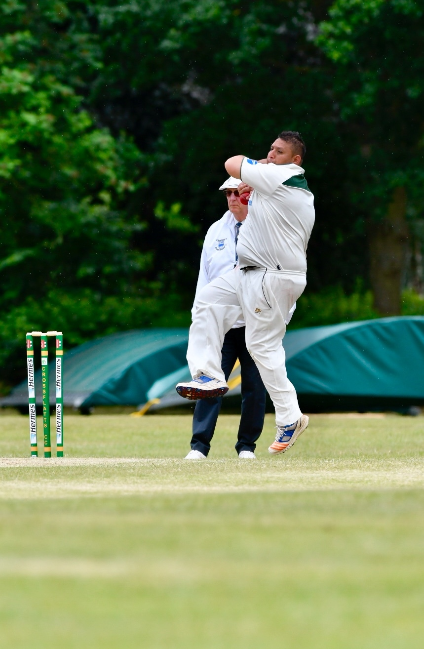 Crossflatts' Wasim Hussain starred in Craven's narrow win over the Nidderdale Show XI, taking 4-38 in his eight overs Picture: Andy Garbutt