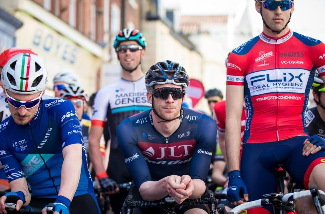 Ed Clancy, middle, the reigning Olympic, World and European champion in the team pursuit, is also scheduled to ride at the Yorkshire Housing Skipton Cycle Race