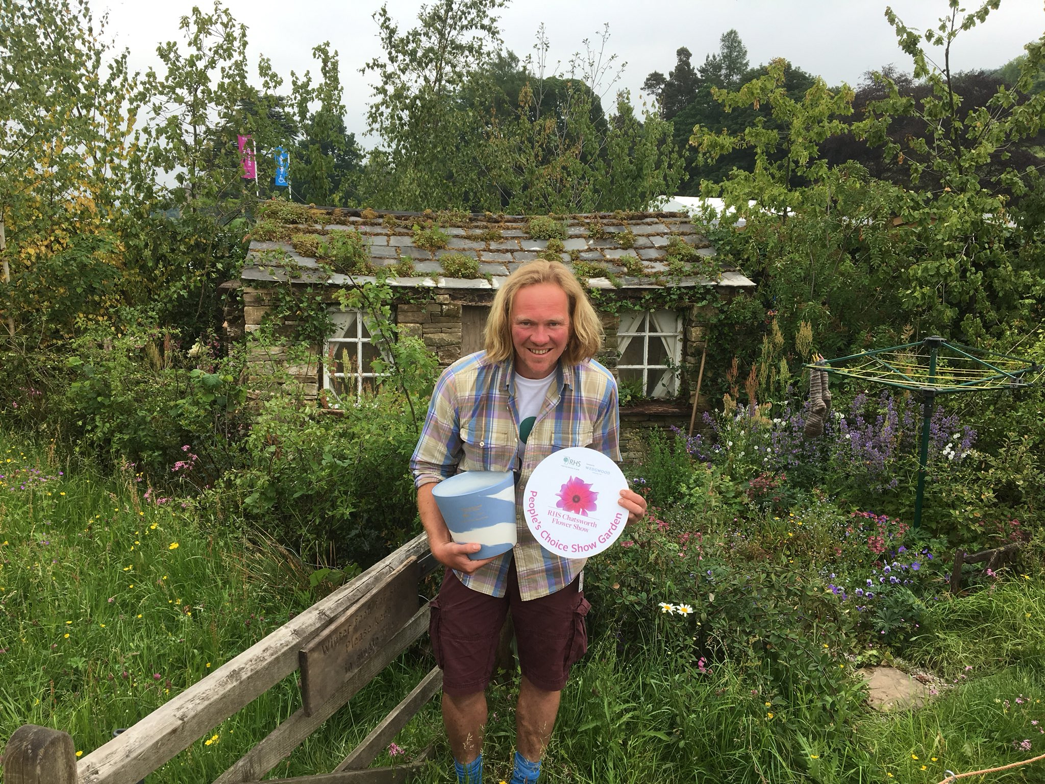Chris Myers receives People's Choice Award at RHS Chatsworth Flower Show