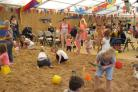 Visitors enjoy the activities during a previous year's Barnoldswick Beach