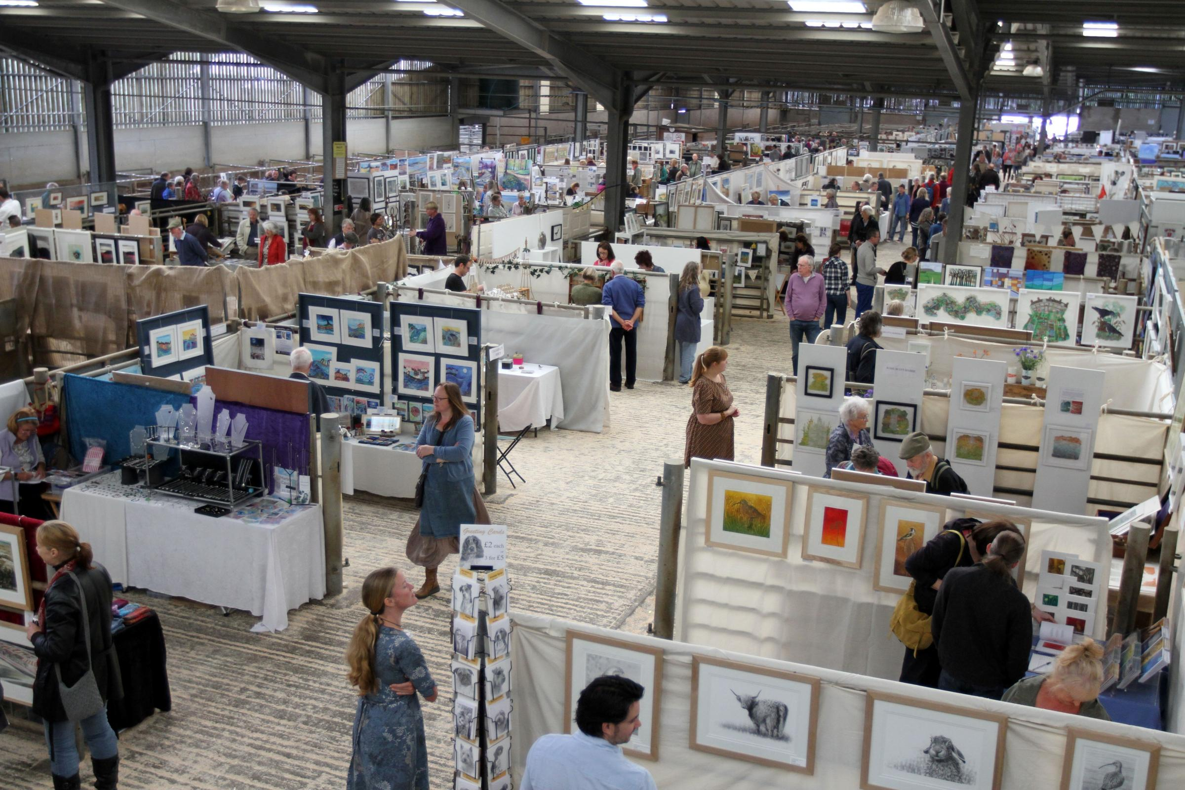 Art in the Pen stalls will once again be set up in the cattle pens at Skipton Auction Mart