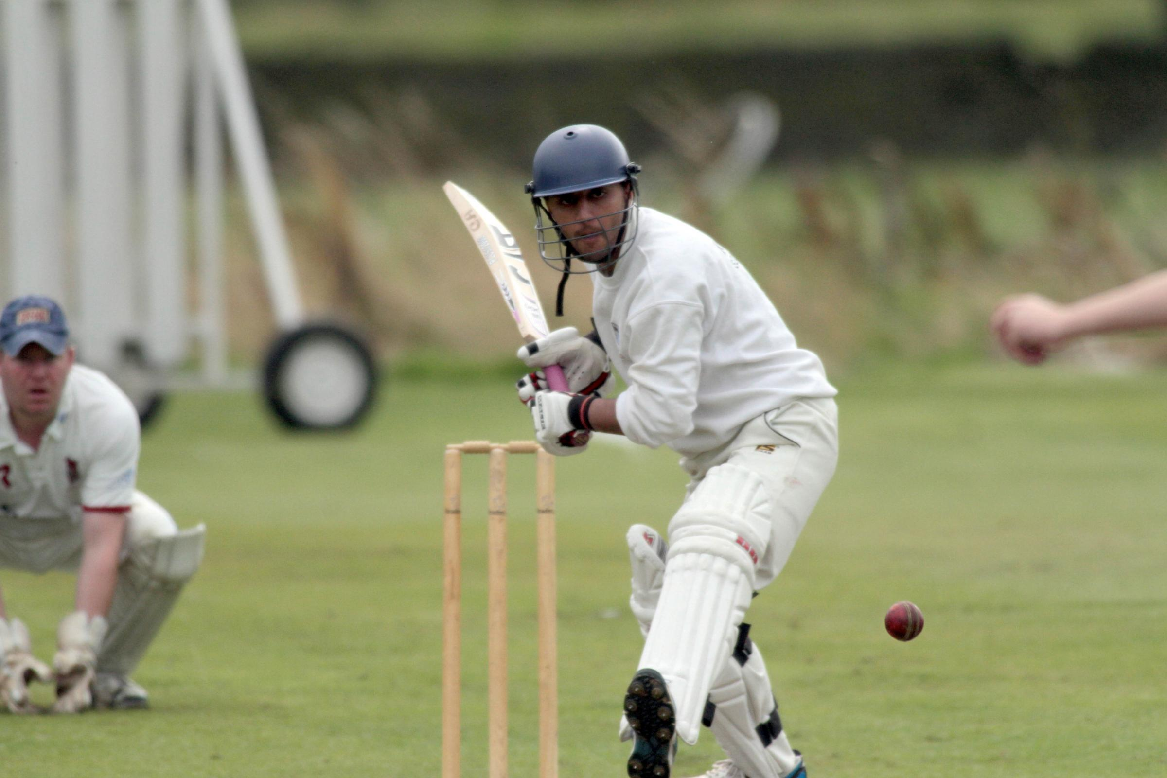 Mohammed Waqas made 36 for Barrowford in the Cowling Cup final