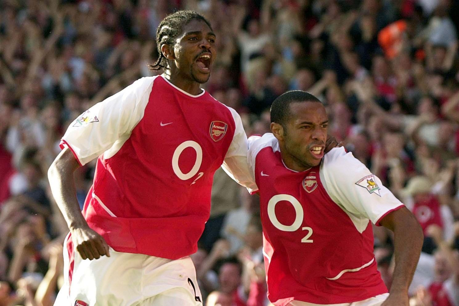 Kanu and Thierry Henry combined well at Arsenal from 1999 to 2005
