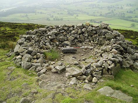 The historic cairn at Beamsley Beacon