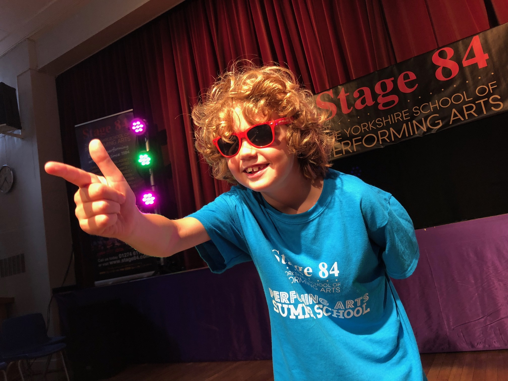 One of the students taking part in Stage 84's summer drama classes