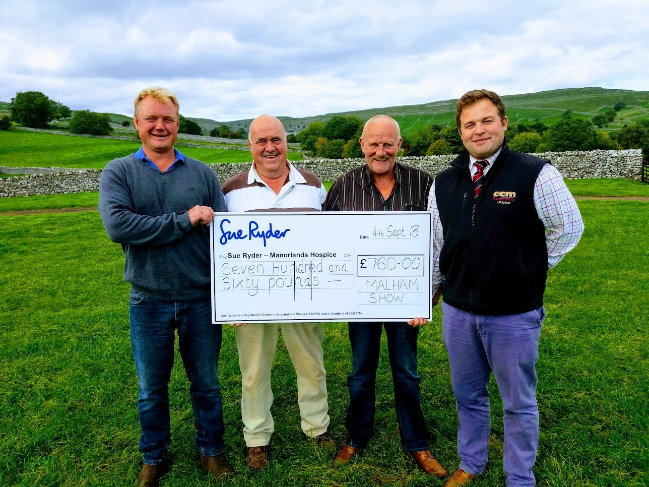 From left: Phil Hargreaves, Chairman; David Hargreaves, Rodney Wainman and Sam Bradley, from Craven Cattle Marts (CCM)