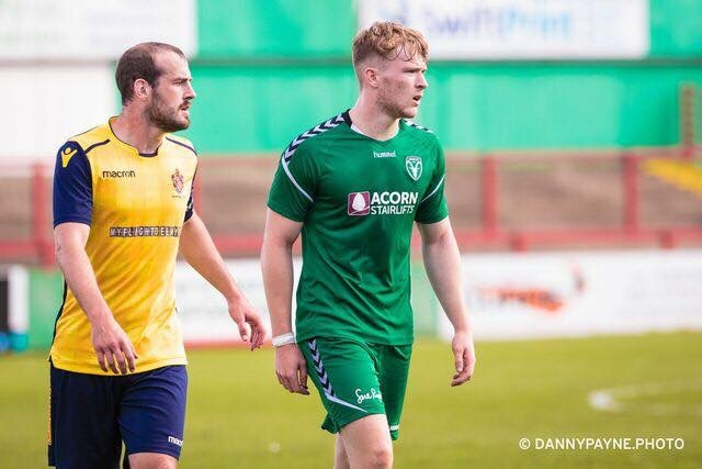 Andy Briggs scored a hat-trick in Steeton's 3-0 win over Atherton. Picture: Danny Payne
