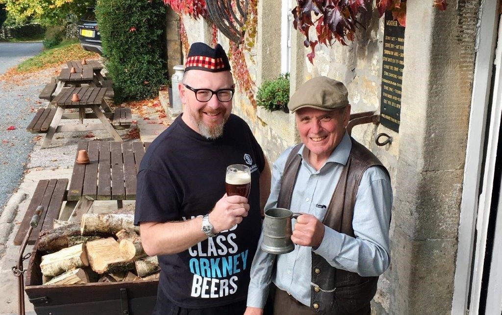 Left, Dave Eggleton, bar manager, who has selected the Scottish beers and David Aynesworth landlord, selector of the Yorkshire beers.