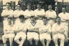 Cowling Cricket Club players in about 1960