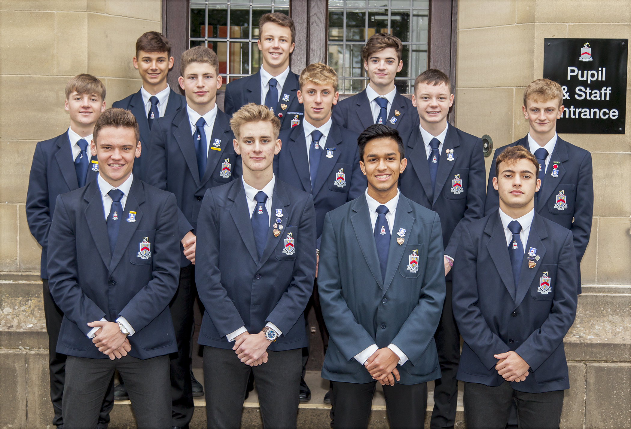 Ermysted Grammar School's prefect team