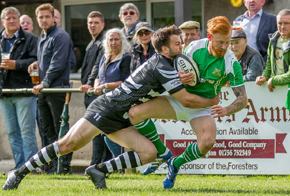 Ben Parkinson, right, scored two tries for Wharfedale Foresters. Picture: Ro Burridge