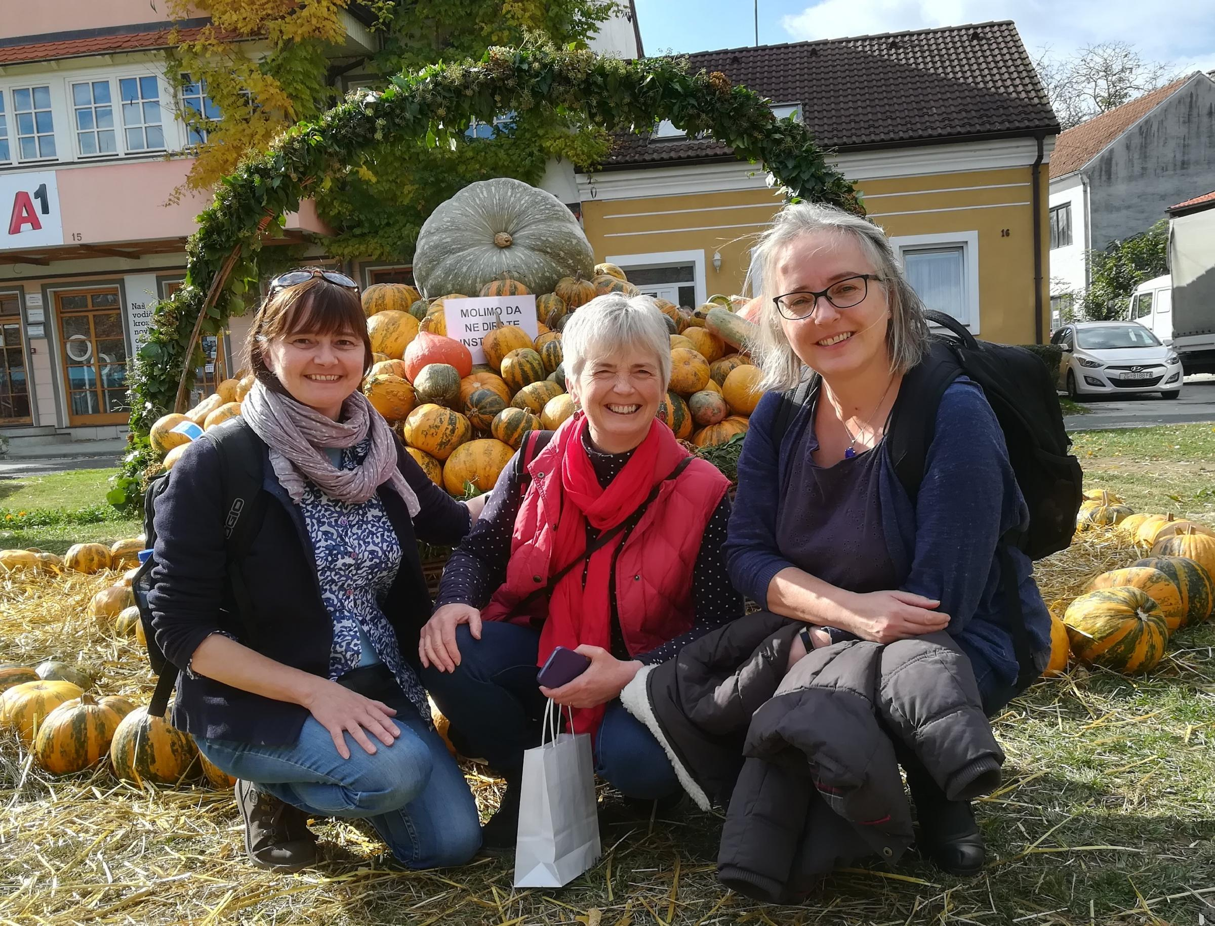From left, Diana Linford, Jenny Hughes and Ruth McMeekin in Croatia