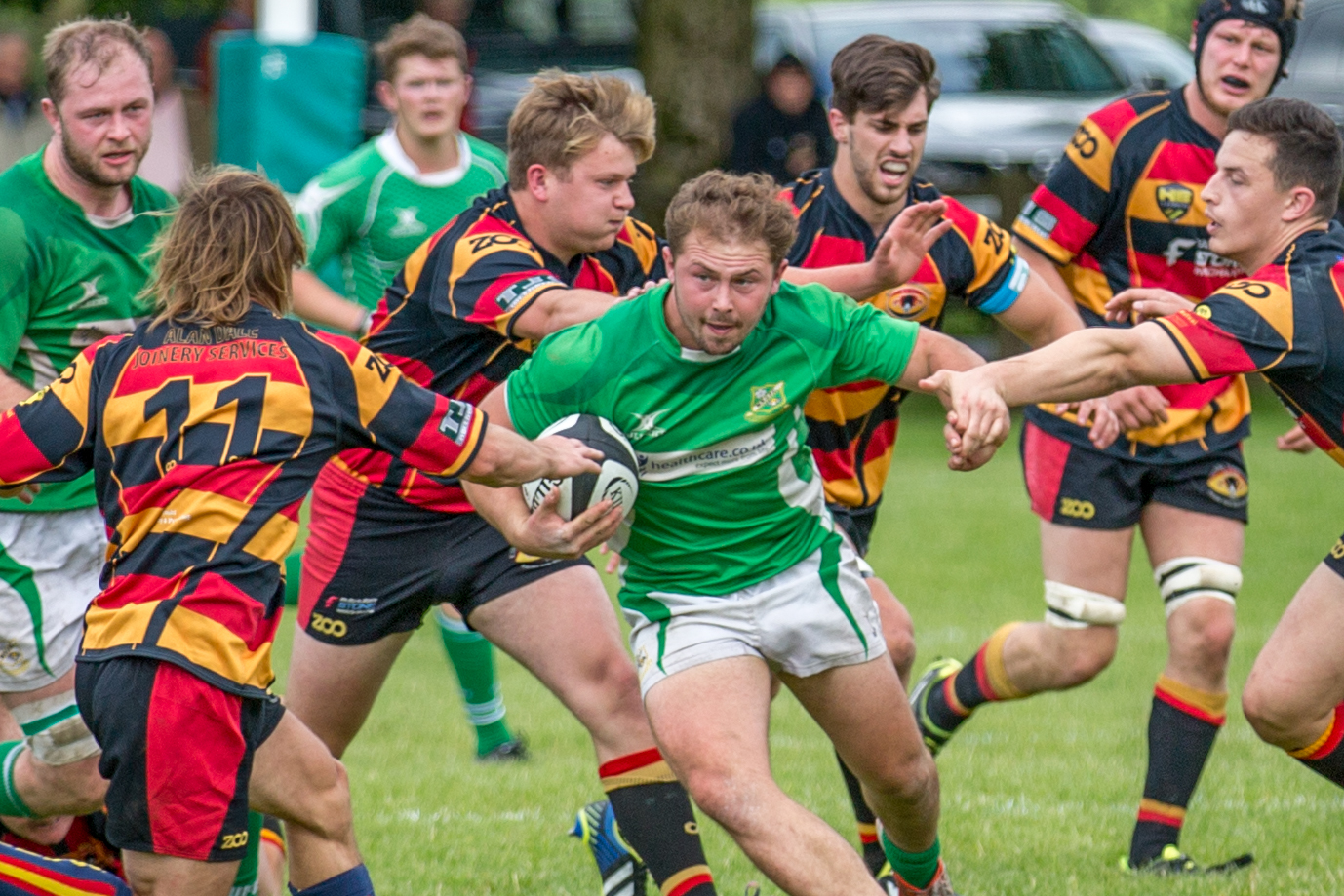 Josh Prell scored the first try for Wharfedale Foresters. Picture: Ro Burridge