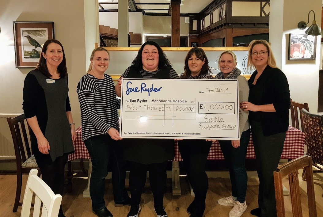 Pictured presenting a cheque to Molly Ralphson, community fundraiser  from left, Emma Carr, Lucy Knowles, Laura Knowles, Kirsty Kilburn and Laura Hodgson.