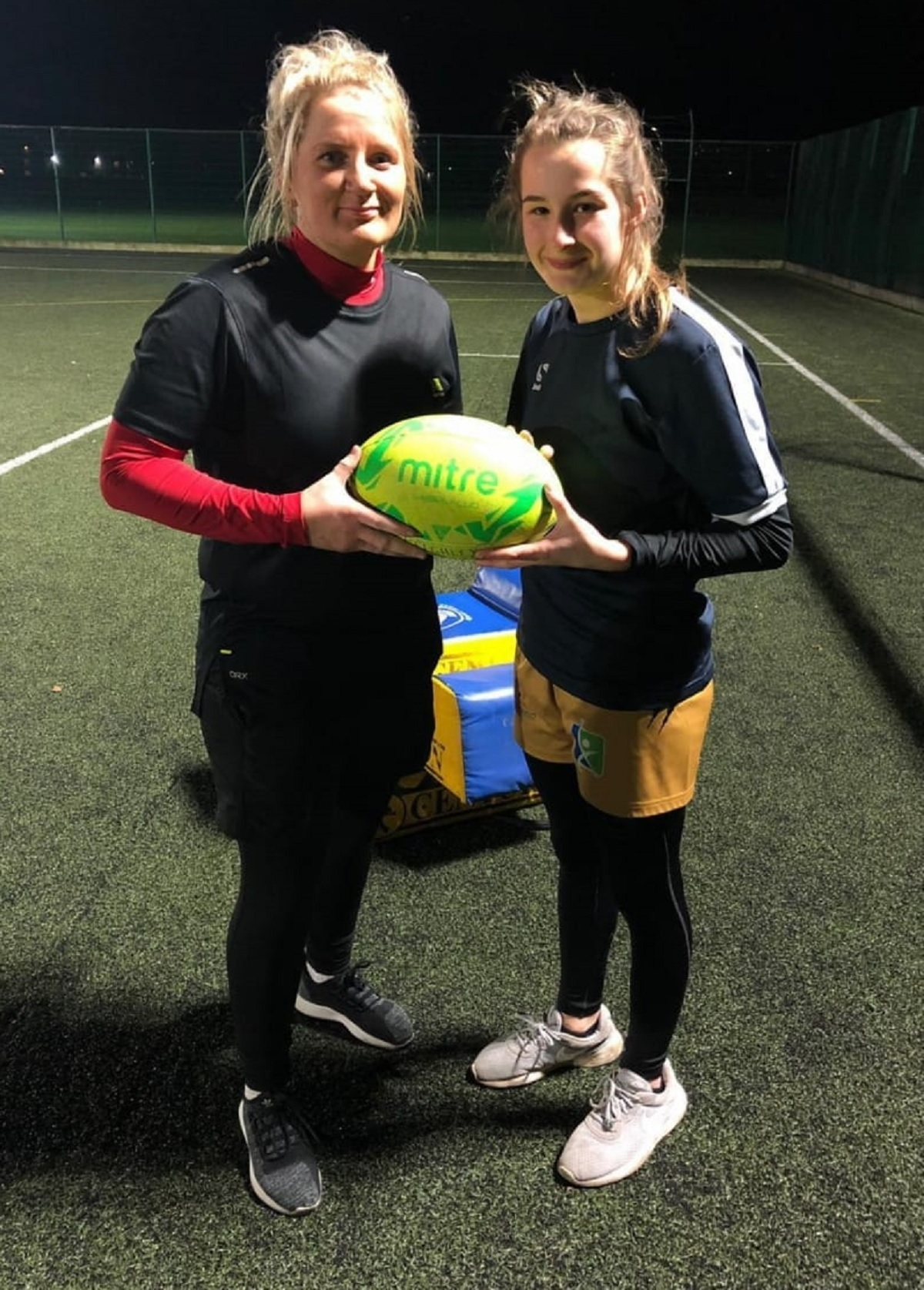 From left, Keighley Albion Ladies players Emma Templeton and Hollie Haigh have been picked to represent Yorkshire in the Origin game against Lancashire on Sunday
