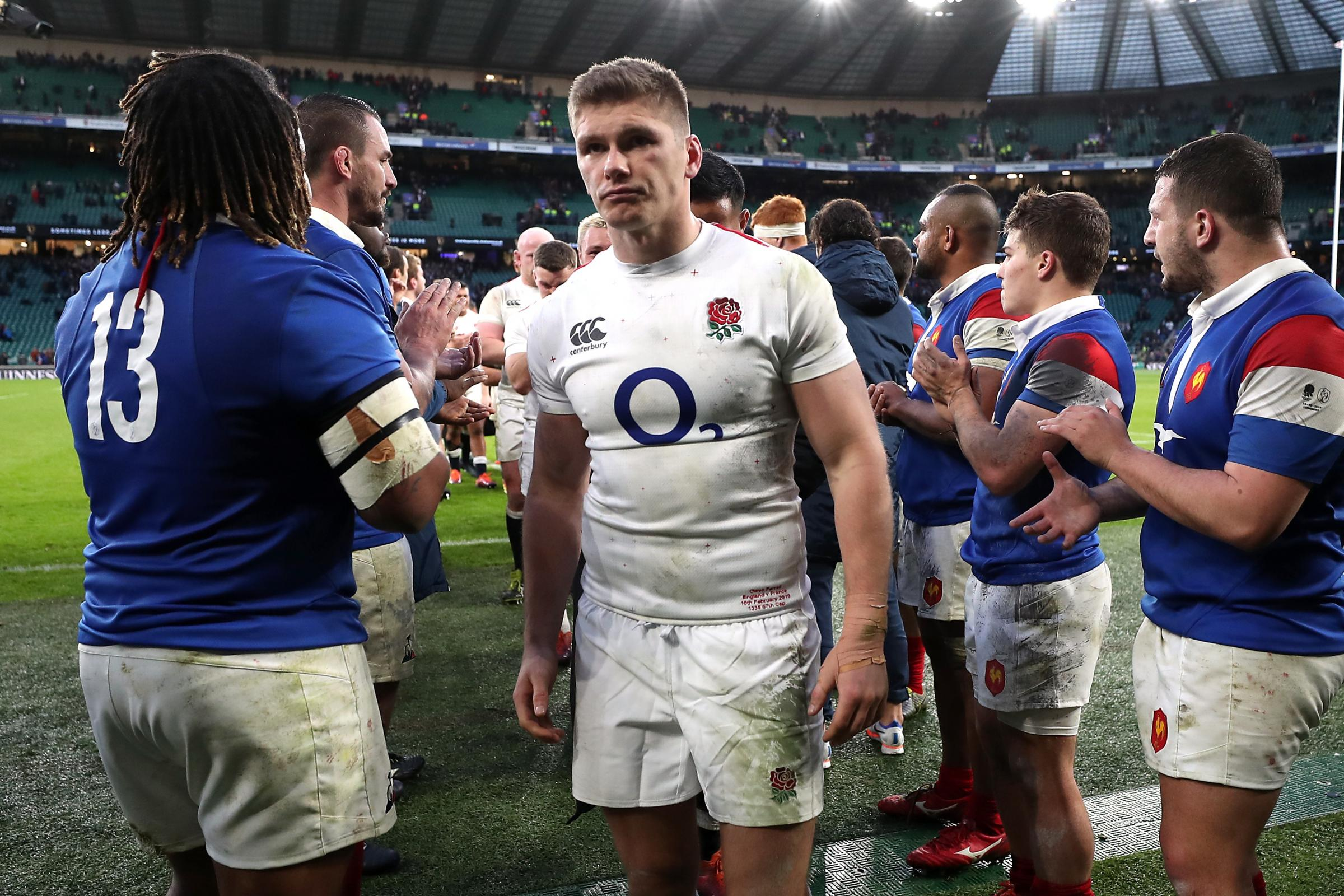 England's Owen Farrell was magnificent against France
