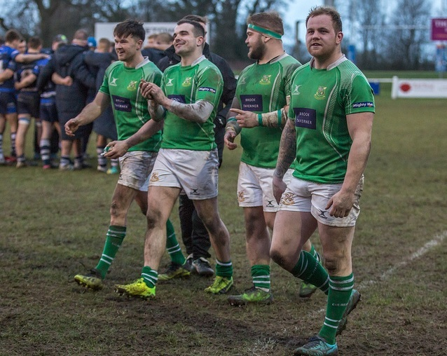 All smiles from the players after a big Wharfedale win. Picture: Ro Burridge