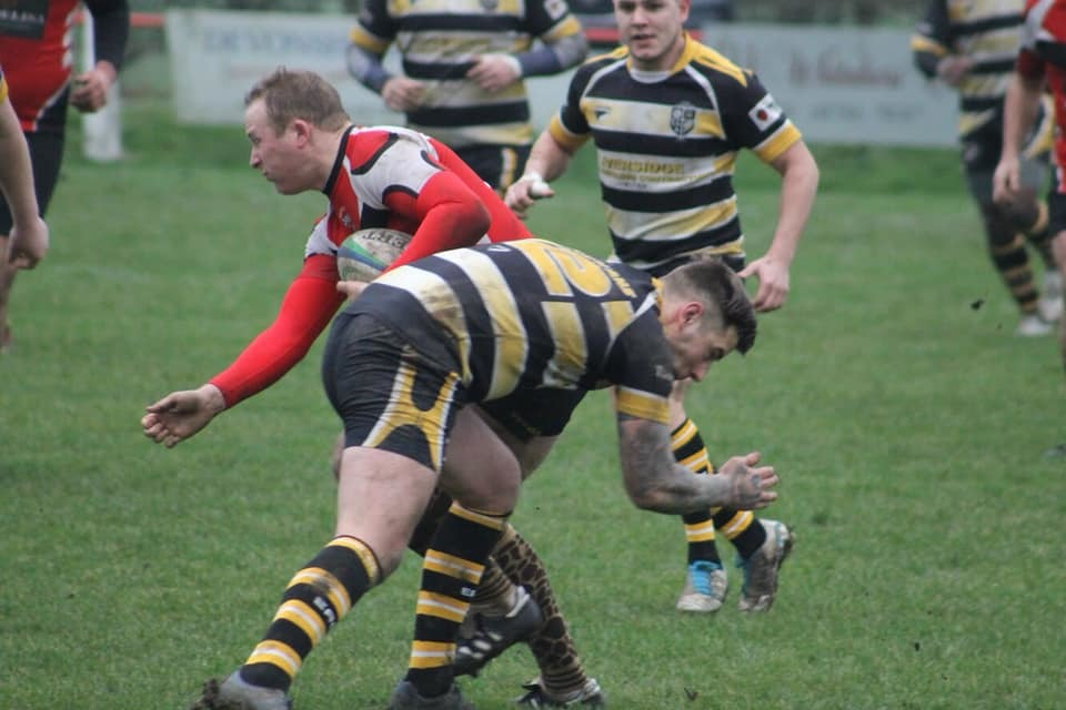 Skipton captain Hamish Munro scored a consolation try for Skipton. Picture: Georgie Elizabeth Green