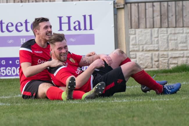 Aidan Kirby, right, was on target for Silsden again
