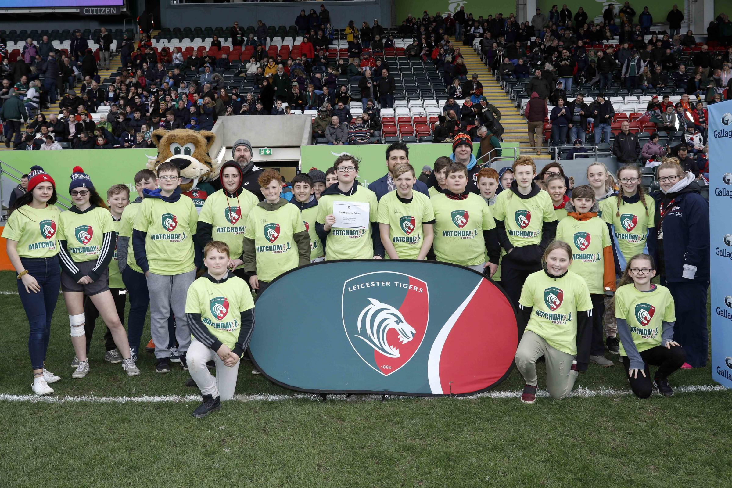 Youngsters from South Craven School honed their skills with Leicester Tigers