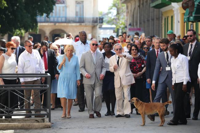 The Prince of Wales and the Duchess of Cornwall take a tour of Old Havana