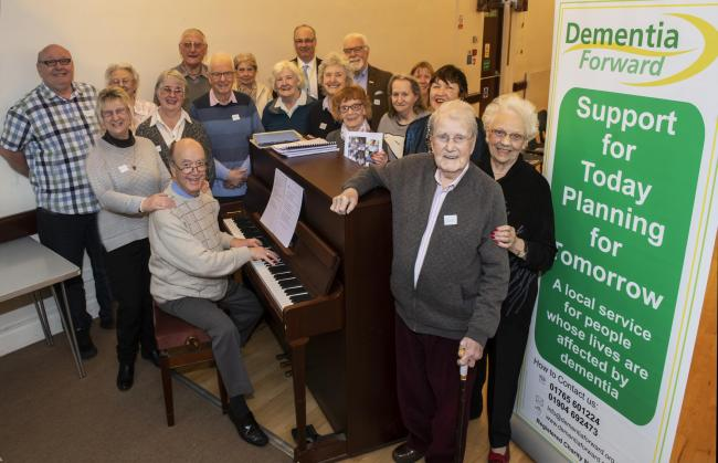 One of Dementia Forward's most popular support activities is a singing group held in Harrogate.