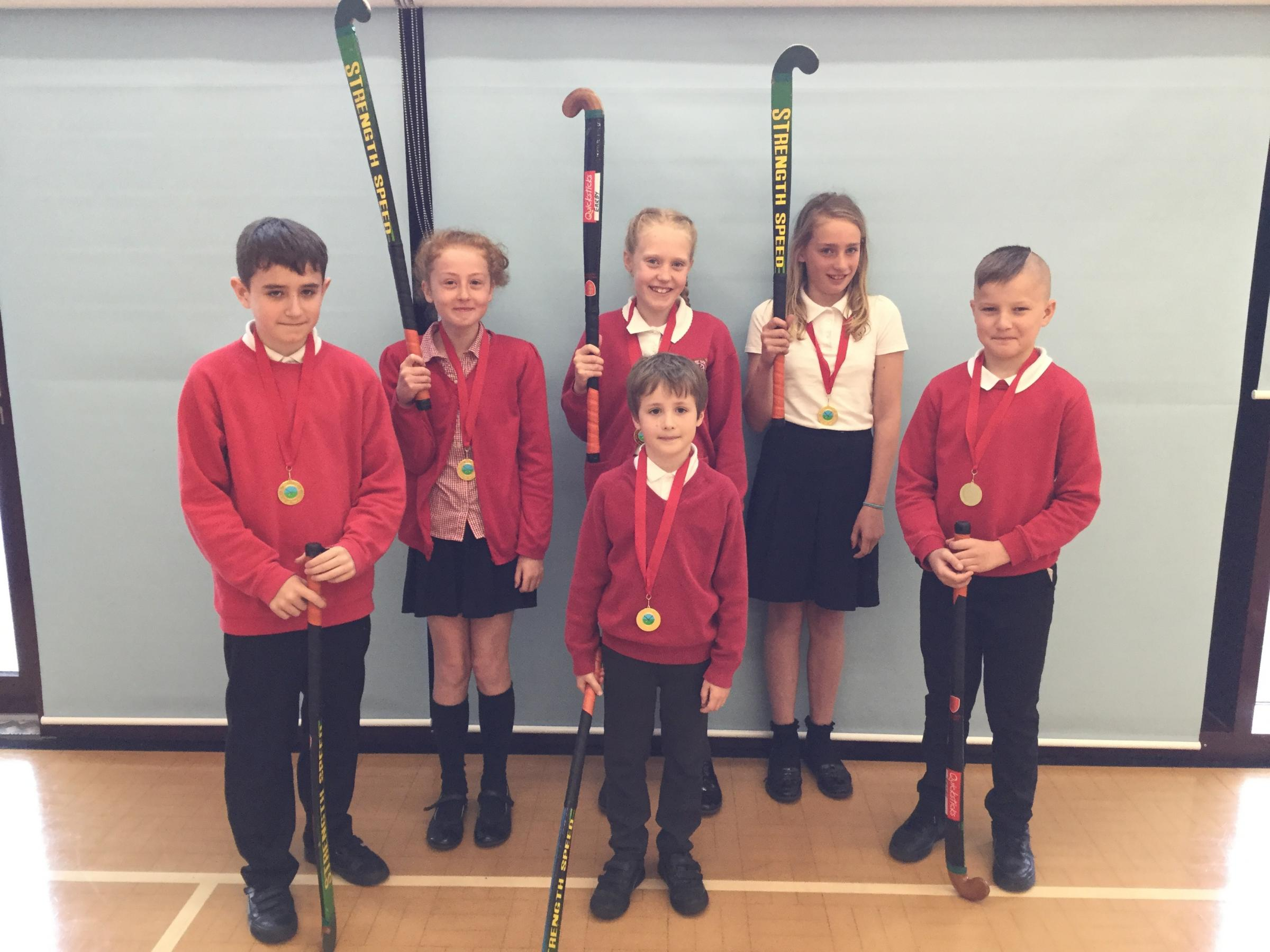 Pupils from Earby Springfield Primary School won the 2019 Pendle Hockey Tournament