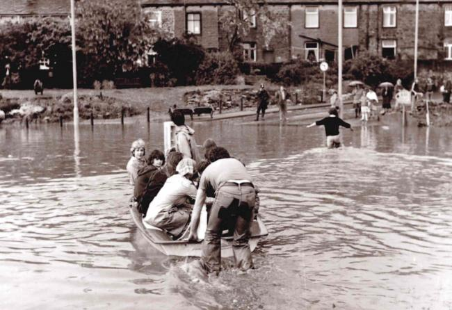 Skipton town centre floods in 1979