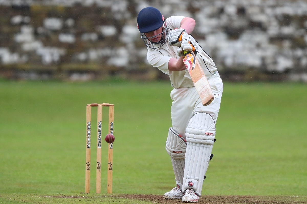 Bradley Akrigg hit a bludgeoning innings of 86, but Steeton lost to Leeds Modernians in the Awards Galore Cup on Sunday. Picture: Thomas Gadd
