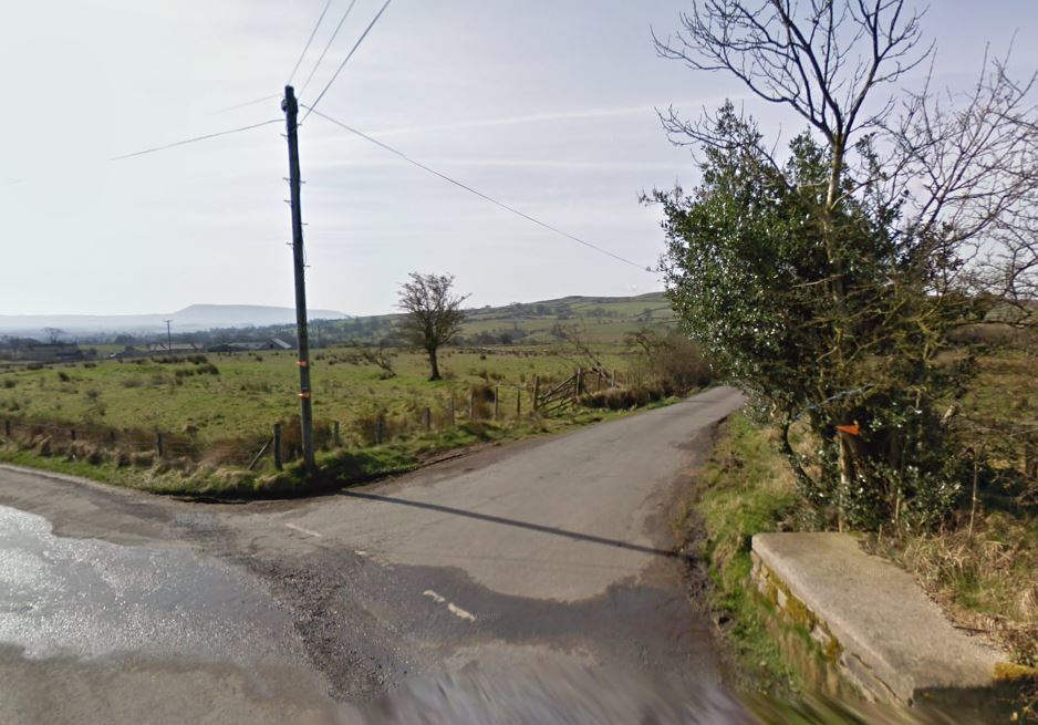 The entrance to Knotts Lane, Tosside, where the farm growing cannabis was raided on Tuesday. Picture: Google Maps