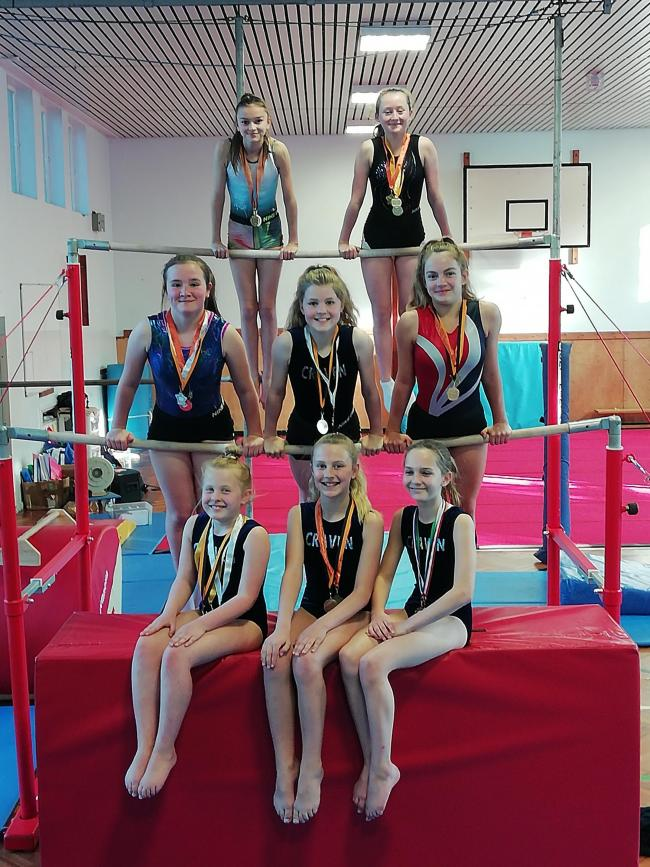 Members of Craven Gymnastics Club competed in a competition at Southport
