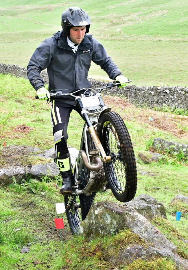 Sam Beecroft-Penny won the experts category at Bradford Motor Club's West Yorkshire Championship Davy Cup Trial