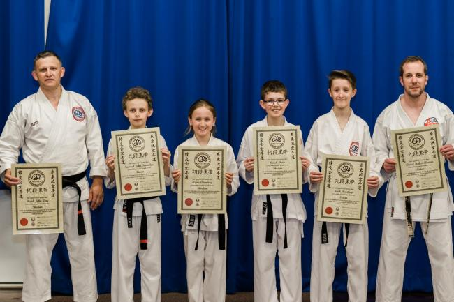 Six students from Skipton Karate Centre recently passed dan black belt grading