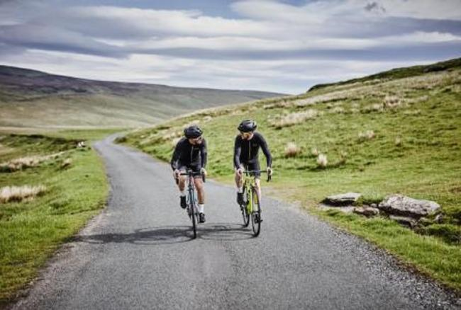 Ben Wood and Andy North on route to France. Picture: Kev Hiscoe (@hiscoe.photography